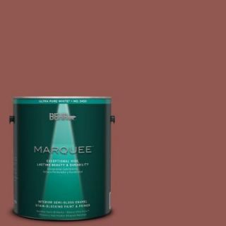 BEHR MARQUEE 1 gal. #MQ1 21 Rich Brocade One Coat Hide Semi Gloss Enamel Interior Paint 345301