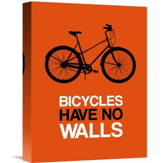 Naxart Bicycles Have No Walls Poster 1 Textual Art on Wrapped Canvas