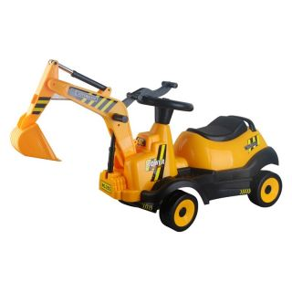 Vroom Rider Ride on 4 Wheel Excavator Battery Powered Riding Toy   Battery Powered Riding Toys