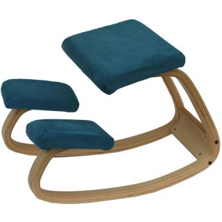 East End Imports EEI 759 TRQ NAT Yoga Chair in Natural with Turquoise Fabric