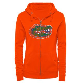 Florida Gators Womens Classic Primary Logo Full Zip Hoodie   Orange