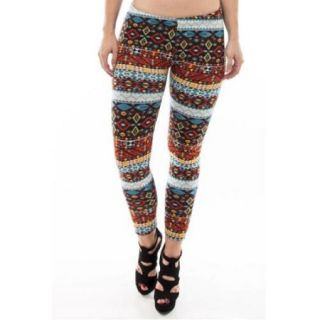 SoHo Colorful Navajo Fur Lined Leggings Medium/Large Size (M/L)   Colorful