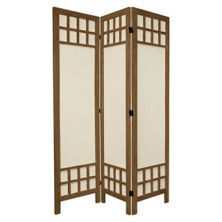 ft. Tall Window Pane Fabric Room Divider 3 Panels   Oriental