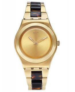 Swatch Unisex Swiss Chicdream Golden Tortoise and Gold Tone PVD
