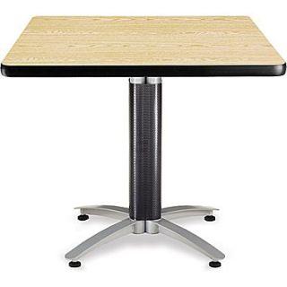 OFM 29 1/2 x 36 x 36 Square Laminate Mesh Base Multi Purpose Table, Oak
