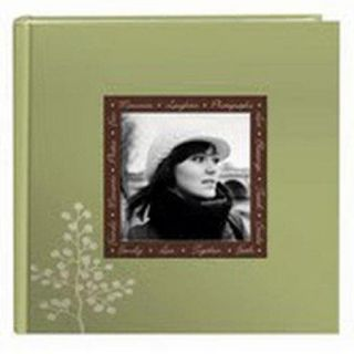 Pioneer Designer Raised Frame Photo Album, Holds 200 4x6 Photos, 2 Per Page, Color: Leaves. EV246F/L