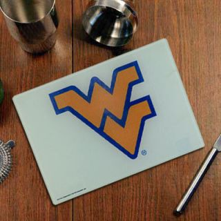 West Virginia Mountaineers Logo Glass Cutting Board