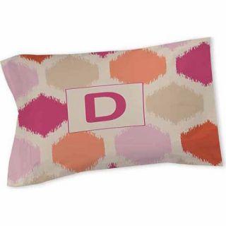 Thumbprintz Batik Monogram Sham, Pink