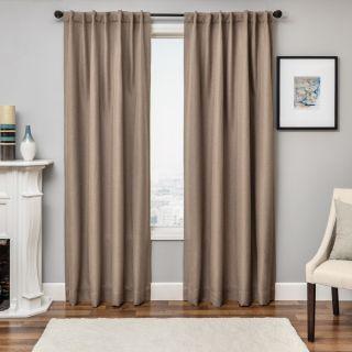 Solara Faux Linen Blackout Curtain Panel   17329730