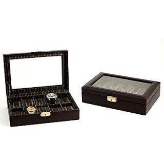 Bey Berk Leather 10  Watch Case, Brown