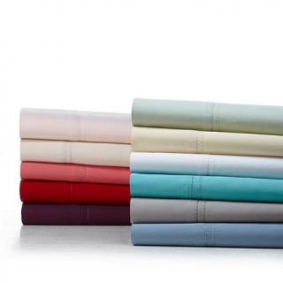 India Hicks Double Hemstitch 100% Cotton 400 Thread Count Sateen Sheet Set   7164713