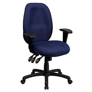 Flash Furniture High Back Fabric Task Chair, Adjustable Arms, Navy