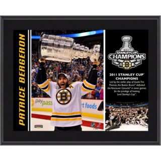 NHL - Patrice Bergeron Plaque  Details: Boston Bruins, 2011 Stanley Cup Champions, Sublimated, 10x13, NHL Plaque