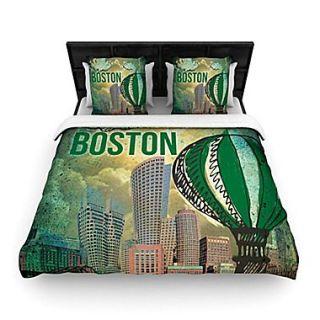 KESS InHouse Boston Woven Comforter Duvet Cover; Full/Queen