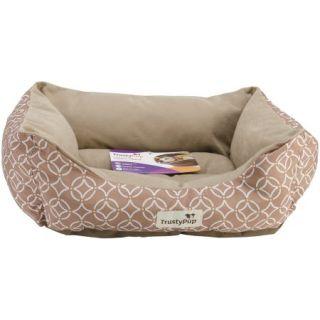 "Trustypup Cuddlecouch Dog Bed, 19"" x 15"", Geo Circle Tan"