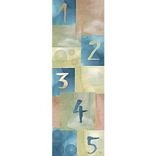 Green Leaf Art Numbers 1 Painting Print on Wrapped Canvas