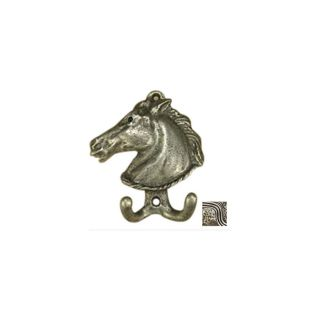 Anne at Home Horses 2 Hook Pewter with Bronze Wash Robe Hook