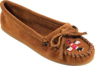 Womens Minnetonka Thunderbird II Suede   Brown Suede