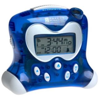 Projection Clock w Temperature in Blue