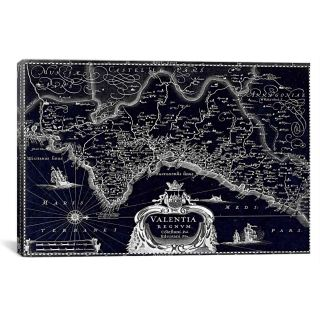 Antique Map of Biscaya (1640) by G and J Blaeu Graphic Art on Canvas
