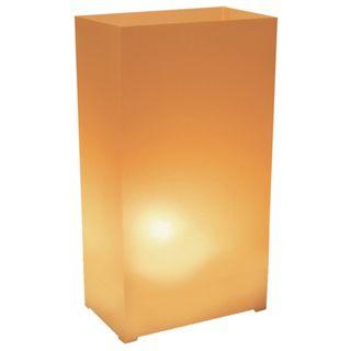 Plastic Tan Luminaria Lanterns (Set of 100)   18172915