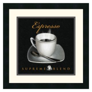 Espresso Framed Wall Art by L. Sala   17.88W x 17.88H in.   Wall Art