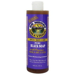 Dr. Woods Shea Vision Ideal Skin Care Pure Black Soap with Organic Shea Butter 16 oz (Pack of 6)