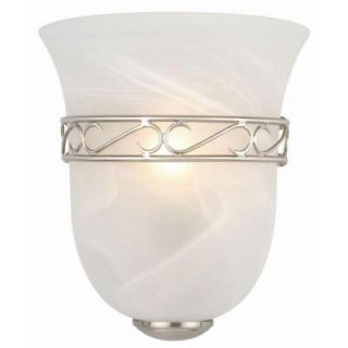 Design House Marlowe 1 Light Satin Nickel Tulip Shape Sconce 514588