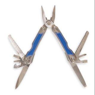 """Westward 1YJC6 Stainless Steel Handle w/Rubber Insert 6""""L Multi Tool"""