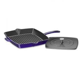 Staub Cast Iron Grill Pan & Press, 12""