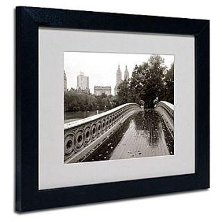 Trademark Fine Art Bow Bridge 2010 11 x 14 Black Frame Art