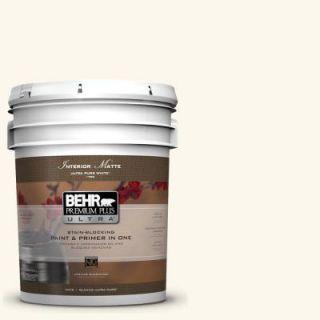 BEHR Premium Plus Ultra 5 gal. #W B 400 Vermont Cream Flat/Matte Interior Paint 175005