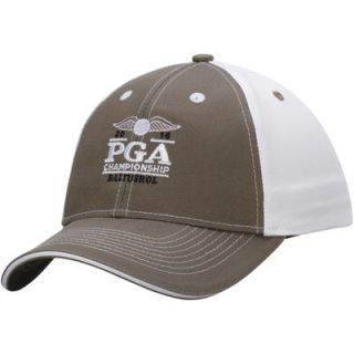 2016 PGA Championship Chino Contrast Stitch Adjustable Hat   Gray/White
