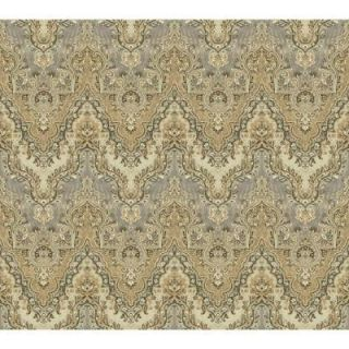 Washington Wallcoverings African Queen II 56 sq. ft. Deep Taupe and White Ostrich Feather Print Wall Paper AQ473315
