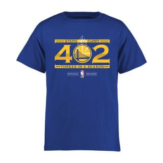 Stephen Curry Golden State Warriors Youth 402 Threes T Shirt   Royal