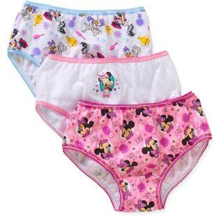 Disney Minnie Girls' Underwear, 3pk