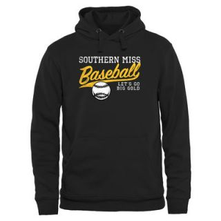 Southern Miss Golden Eagles Ballpark Pullover Hoodie   Black