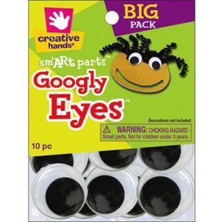 Glue On Googly Eyes, 40mm, 10pk, Black