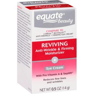 Equate Beauty Reviving Anti Wrinkle & Firming Moisturizer Eye Cream, 0.5 oz