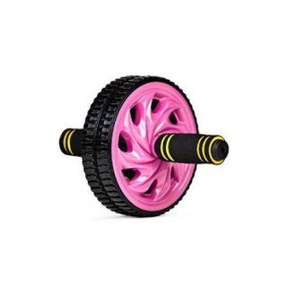 Crown Sporting Goods Ab Wheel with Dual Non Skid Wheels and No Slip Comfort Grips Multi Colored