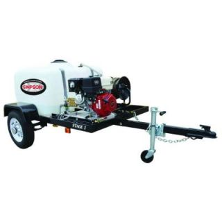 Simpson 4,200 psi 4.0 GPM Gas Pressure Washer Trailer System with Electric Start 95003