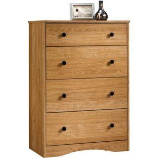 Sauder Beginnings 4 Drawer Dresser, Highland Oak