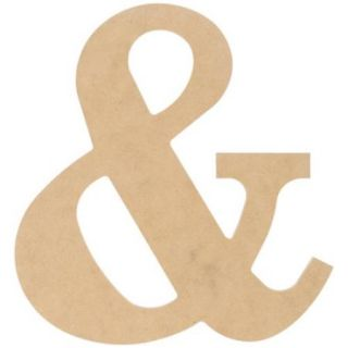 """MDF Classic Font Wood Letters & Numbers 9.5"""" &"""