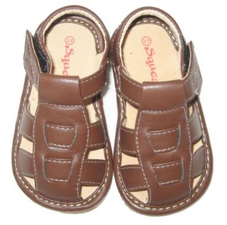 Squeakies Baby and Toddler Brown Sandals  ™ Shopping