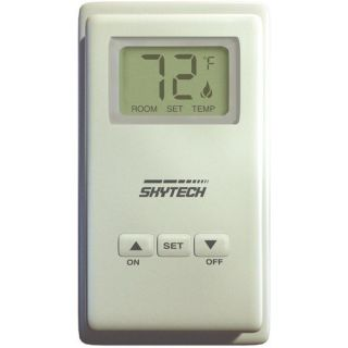 SkyTech TS R 2A Wireless Remote Wall Mount Fireplace Timer System with LCD Display