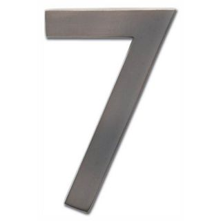 "Floating House Number ""7"" in Dark Aged Copper Finish (2.6 in. W x 4 in. H (0.15 lbs.))"
