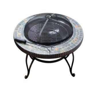 Fireside Escapes 34 in. Marble Classic Round Fire Pit DISCONTINUED MW1350