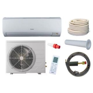 GREE High Efficiency 9,000 BTU 3/4 Ton Ductless Mini Split Air Conditioner and Heat Pump Kit   230V/60Hz RIO09HP230V1BKIT   Mobile