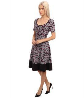 Kate Spade New York Cyber Cheetah Sweater Dress Big Smoke