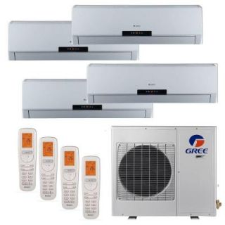 GREE Multi 21 Zone 30,000 BTU 2.5 Ton Ductless Mini Split Air Conditioner with Heat, Inverter, Remote   208 230 Volt/60Hz MULTI30HP402